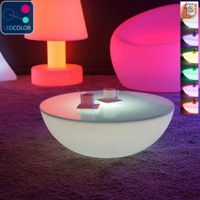 table basse lumineuse led multicolore moon light s