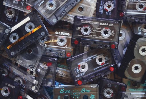 Cluttered cassette tapes in need of clutter free challenges