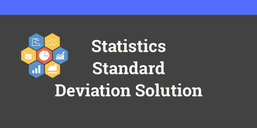 Standard Deviation formula