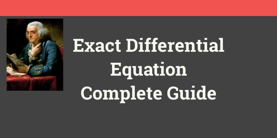 Exact Differential Equation
