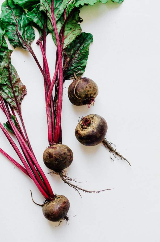 Picture of beets on a white background