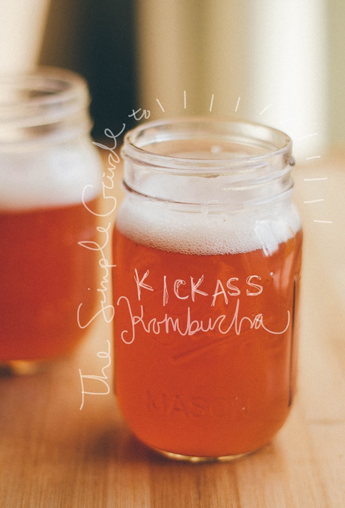 How to make homemade kombucha recipe with kombucha in a mason jar