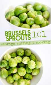 Everything you need to know about cooking with Brussels sprouts…seasonality, variations, ways to cook them, and nutrition information.