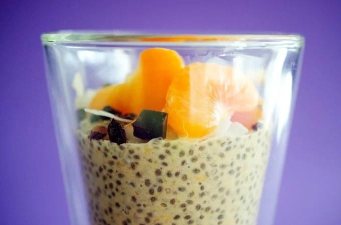 Orange Chia Breakfast Pudding