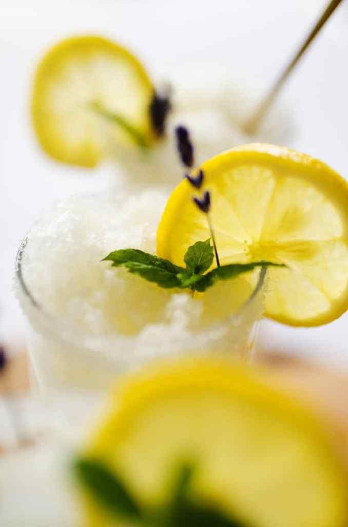 Lemonade takes on an ultra-summery and refreshing form in this Lavender Lemonade Slushy!