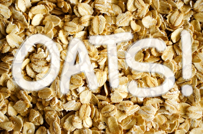 Close up photo of rolled oats