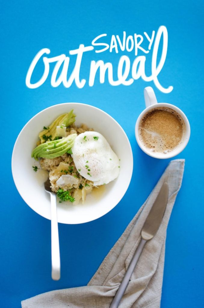 This Savory Oatmeal with Avocado and Poached Egg transforms your usual, sweet oatmeal routine into something umami-packed, new, and delicious!