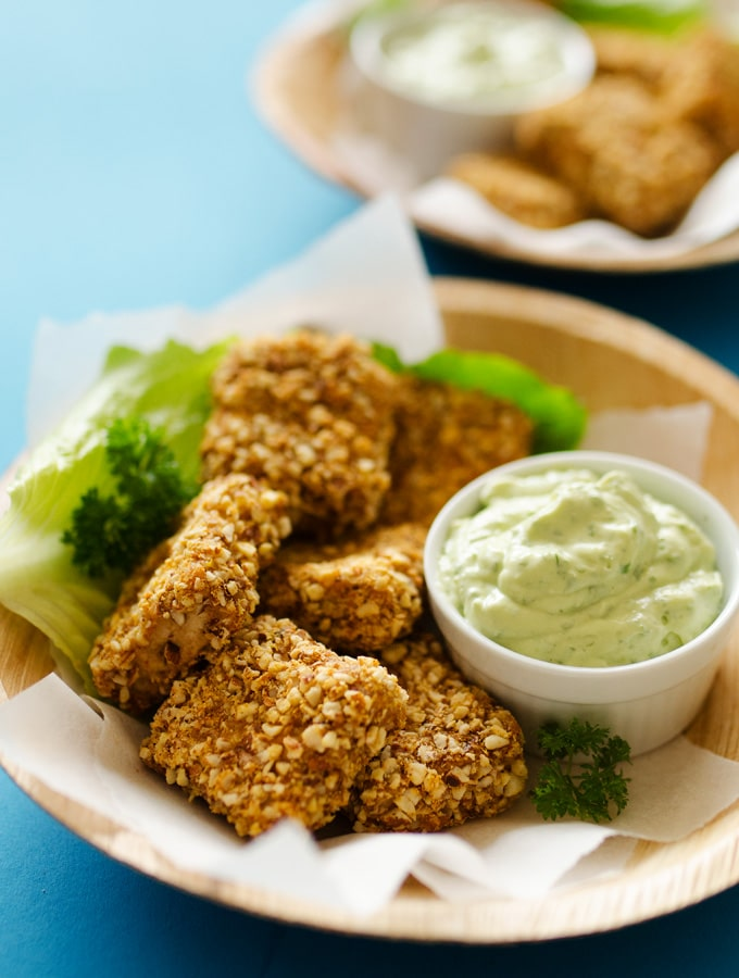 13. Almond Crusted Baked Tofu Nuggets