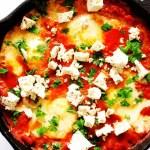 "Egg Shakshuka with Tofu ""Feta"""