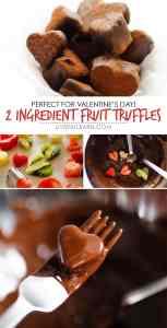 2 Ingredient Chocolate Fruit Truffles