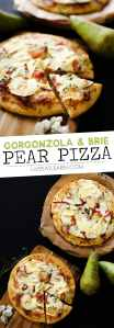 This Gorgonzola Pear Pizza is loaded with autumn flavor...caramelized onions, thyme, brie, the works!