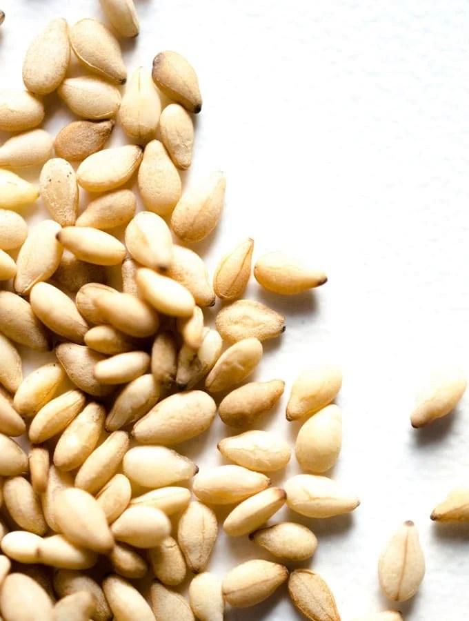 Close up photo of sesame seeds