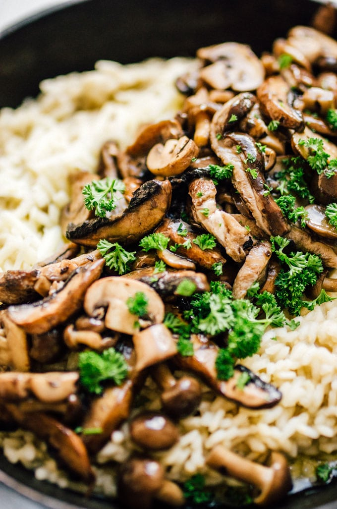 For a dinner that breaks from your usual routine while also being a flavorful classic, give this Easy Mushroom Risotto and try! Packed with wild mushrooms, wine, and cheese...what more could you want from a dinner?