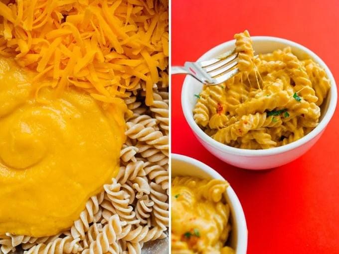 Adding butternut squash to macaroni and cheese