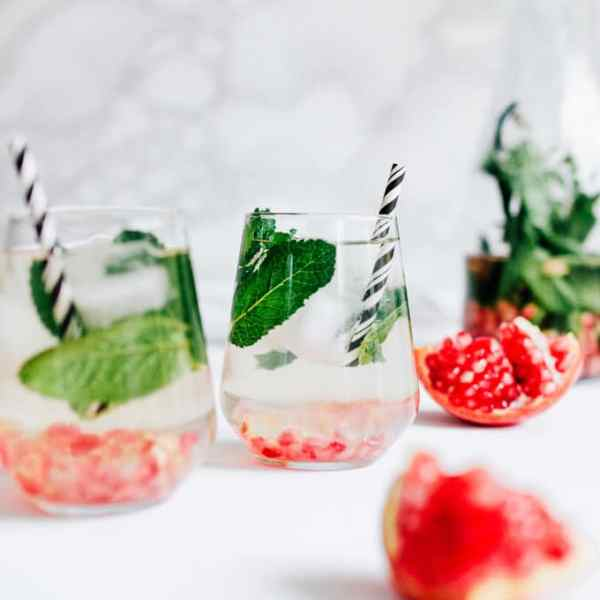This Pomegranate Mint Water is quick to whip up and so refreshing - the perfect hydration for after those heavy holiday meals!