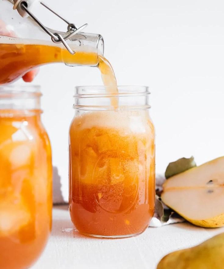 13. Spiced Pear Kombucha