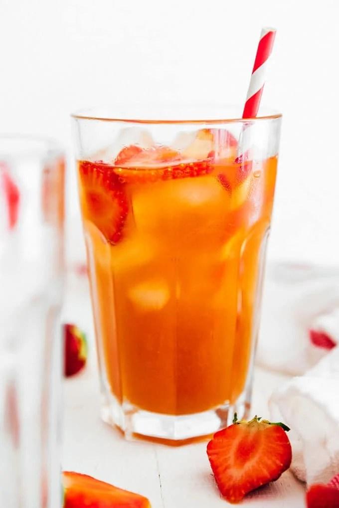 4. Strawberry Kombucha