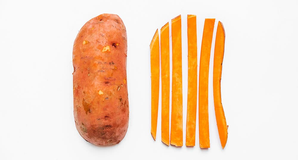 How to cut sweet potato fries