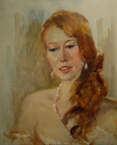 Art and Soul event 2015 portrait painter Ann Marshall Bailey painting of Eden