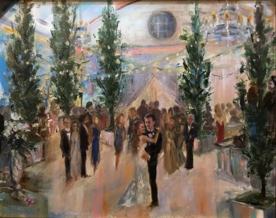 Ann Bailey Live event painting first dance Atlanta History Center reception