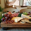Butcher block cheese tray