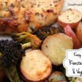 one pan roasted chicken & vegetables