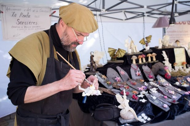 Medieval Market of Etterbeek: Artisan at Work (Marché médiéval d'Etterbeek)