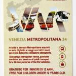 Arriva il biglietto unico Venezia Metropolitana 24