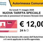Autorimessa comunale di Piazzale Roma: nuova tariffa speciale
