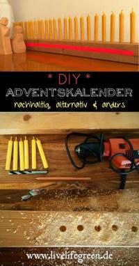 Pinterest-Pin: DIY Adventskalender, nachhaltig, minimalistisch und alternativ