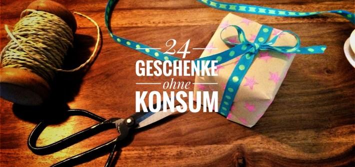 Nachhaltige Geschenkideen ohne Konsum