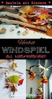 Windspiel Aus Naturmaterialien Selber Machen Mobile Aus Blättern