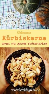 Pinterest-Pin: Gebrannte Kürbiskerne