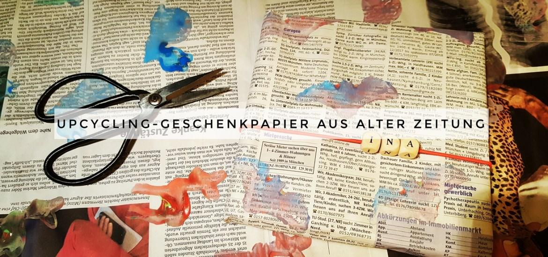 Upcycling Geschenkpapier Aus Alten Zeitungen Livelifegreen
