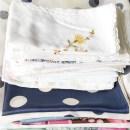 Grüne Lieblinge im März: Stofftaschentücher von Oma