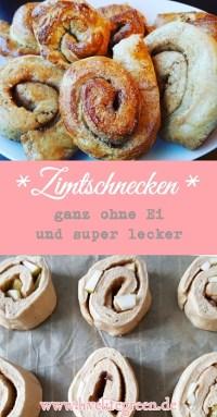 Pinterest-Pin: Vegane Zimtschnecken ohne Ei und ohne Milch: Osterzopf