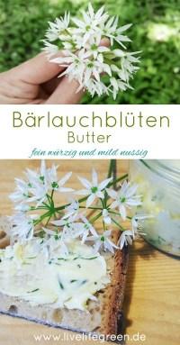 Pinterest-Pin: Bärlauchblüten-Butter