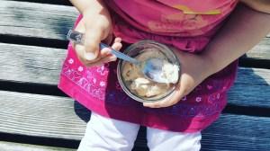 Zerowaste-Eis: mit Einmachglas