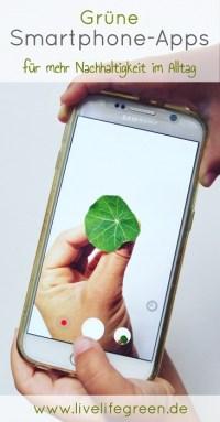 Pinterest-Pin: Grüne Apps für mehr Nachhaltigkeit