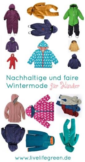 Pinterest-Pin: Nachhaltige Winterjacken und Schneeanzüge für Kinder