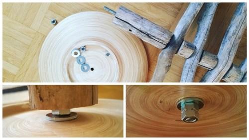 DIY-Weihnachtsbaum aus Holz und Ästen Sockel