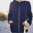 Nachhaltige Winterjacke aus Wolle vom Finkhof vorne