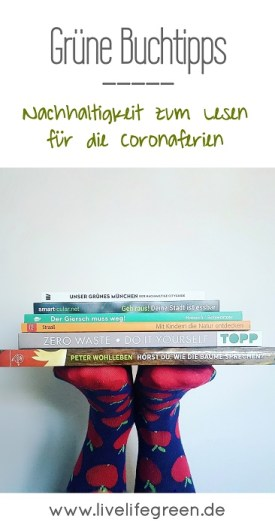 Pinterest-Pin: Nachhaltige Buchtipps für die Coronazeit