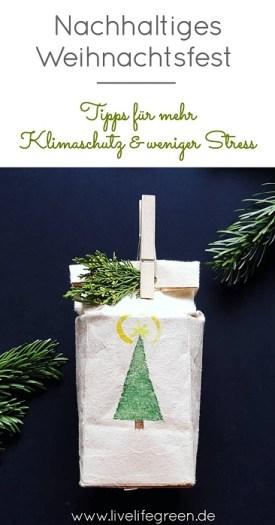 Pinterest-Pin: Tipps für ein nachhaltiges Weihnachtsfest