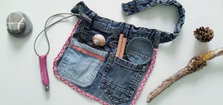 Upcycling Werkzeuggürtel aus alter Hose selber machen