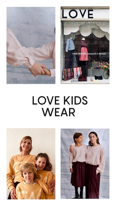 Nachhaltiges Mutter Kind Outfit mit LOVE Kidswear