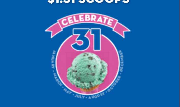 baskin robbins ice cream deal
