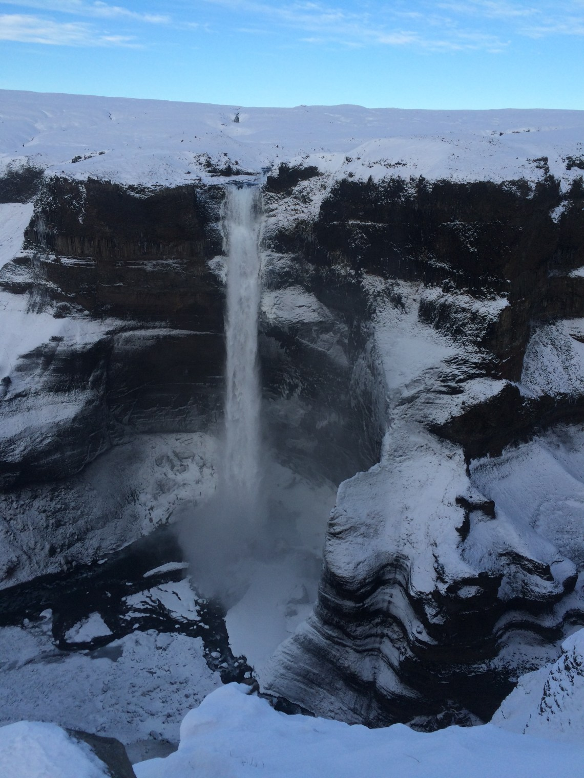 Haifoss in winter - how to get to Haifoss waterfall   Life With a View