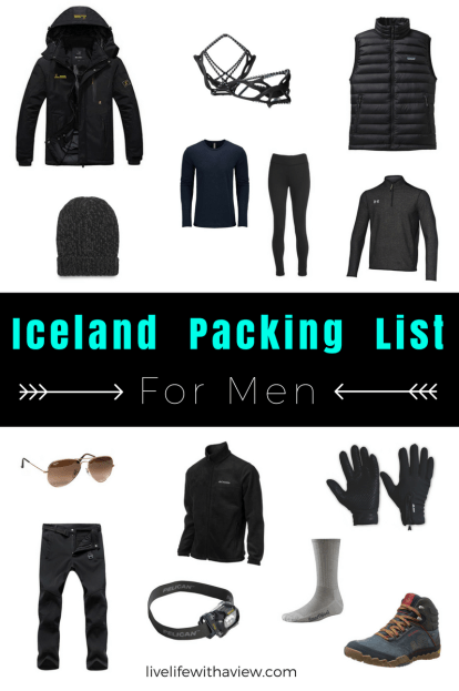 Iceland Packing List - for men