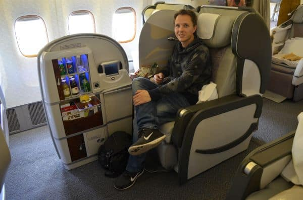 travel hacking business class